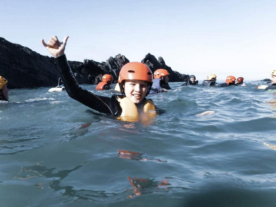kids weekend coasteering